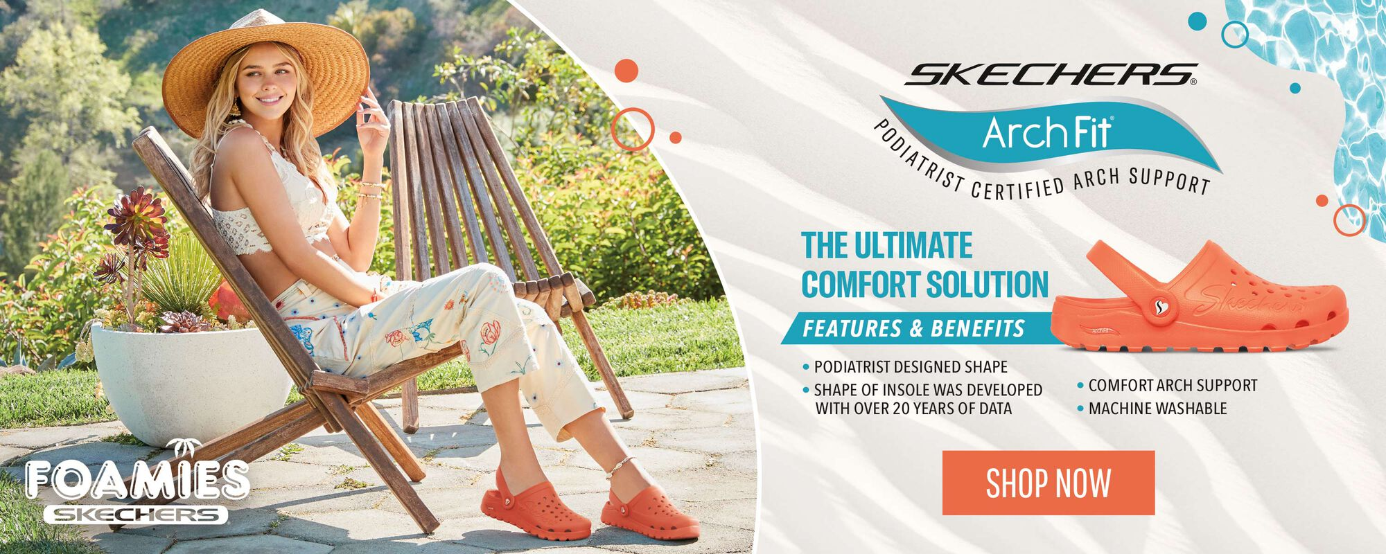 Skechers Arch Fit - The ultimate comfort solution - Features and benefits:Podiatrist designed shape - Shape of insole was developed with over 20 years of data  - Comfort arch support - Machine washable - Shop Now