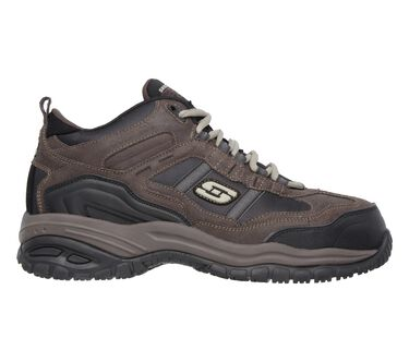 Work Relaxed Fit: Soft Stride - Canopy Comp Toe, BROWN / BLACK, large image number 4