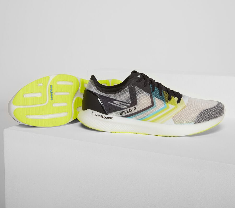 Skechers GOmeb Speed 6 Hyper, WHITE/LIME, largeimage number 0