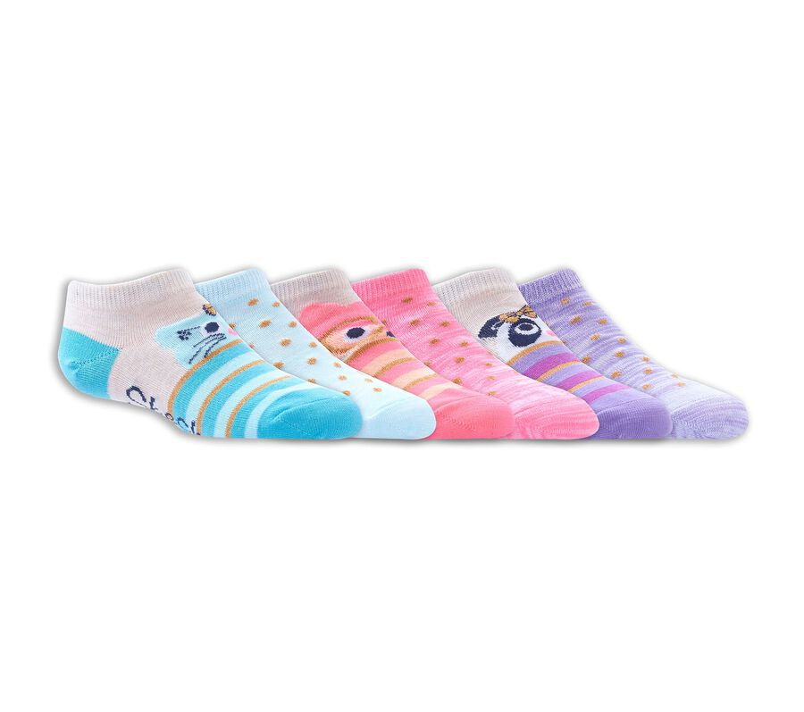 6 Pack Low Cut Critter Socks, ASSORTED, largeimage number 0