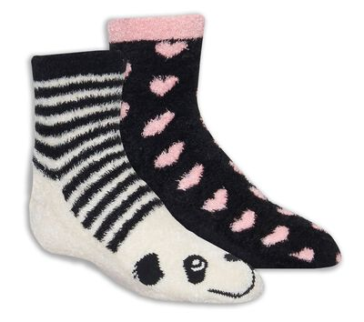 2 Pack Panda Cozy Crew Socks