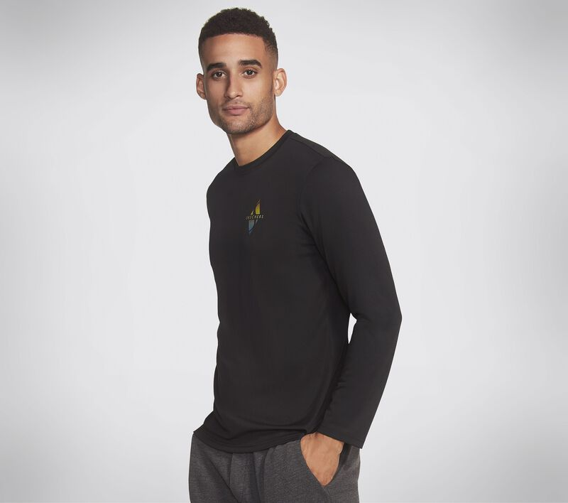 Skechers Apparel Trainer LS Tee Shirt, BLACK, largeimage number 0