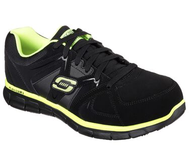 Work Relaxed Fit: Synergy - Ekron Alloy Toe, BLACK/LIME, large image number 0