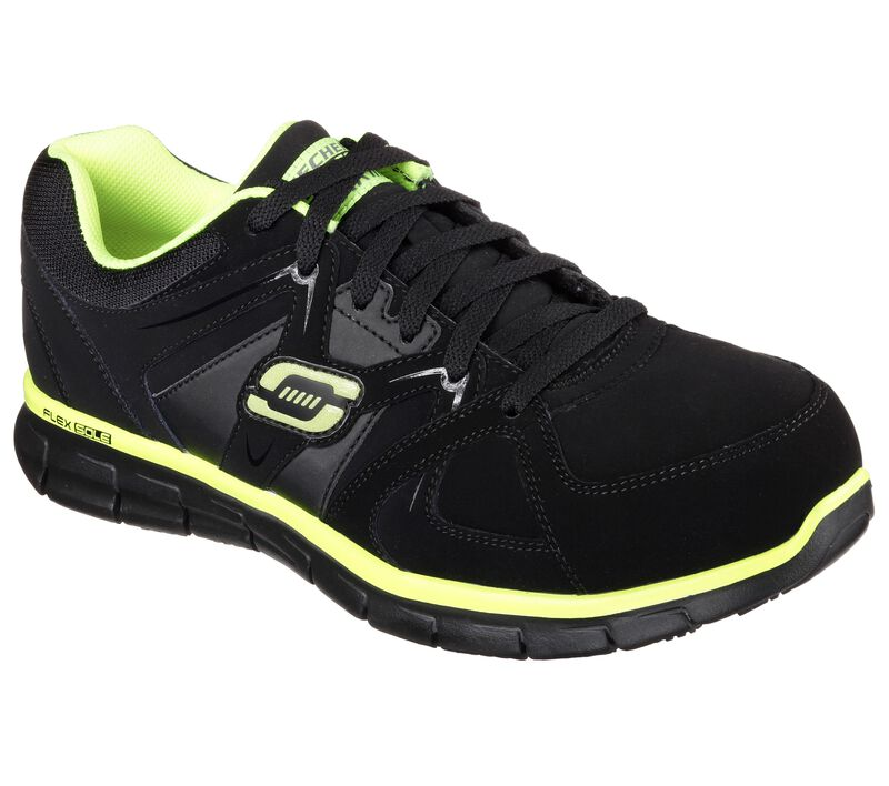Work Relaxed Fit: Synergy - Ekron Alloy Toe, BLACK/LIME, largeimage number 0