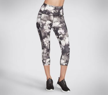 Skechers Apparel Ink Floral HW Midcalf Legging, BLACK / MULTI, large image number 0