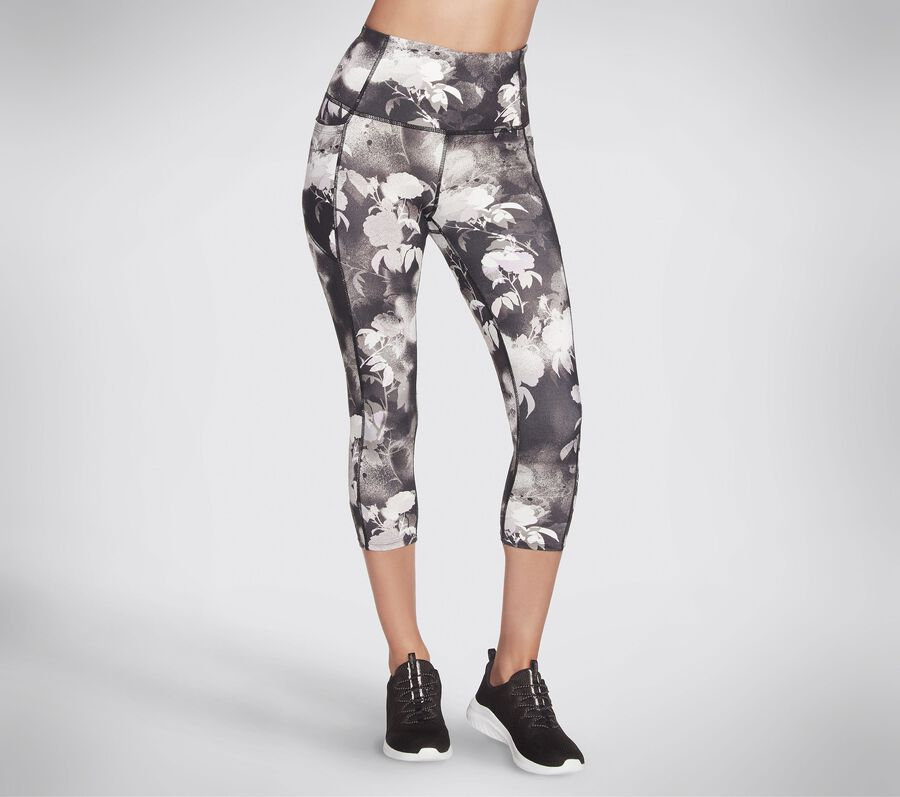 Skechers Apparel Ink Floral HW Midcalf Legging, BLACK / MULTI, largeimage number 0