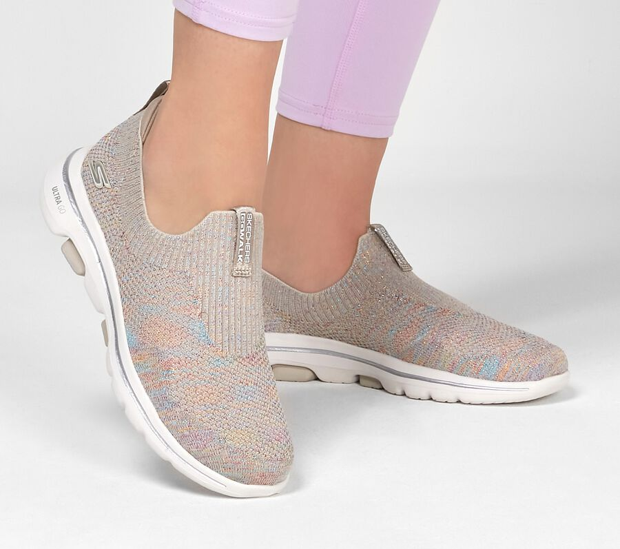 Skechers GOwalk 5 - Sparkly, TAUPE/MULTI, largeimage number 0