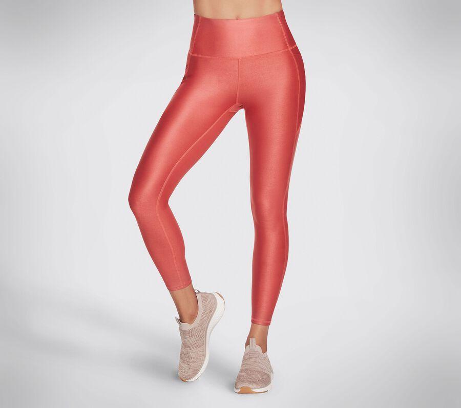 Skechers Apparel Stellar Shine HW Legging, BRICK, largeimage number 0