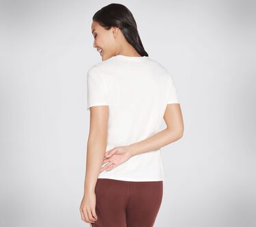 Skechers Apparel Wild Rose Tee Shirt, WHITE, large image number 1