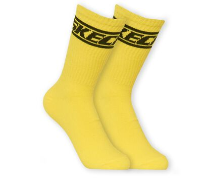 2 Pack Non Terry Sport Crew Socks
