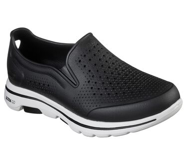 Cali Gear: Skechers GOwalk 5 - Easy Going, BLACK/WHITE, large image number 0