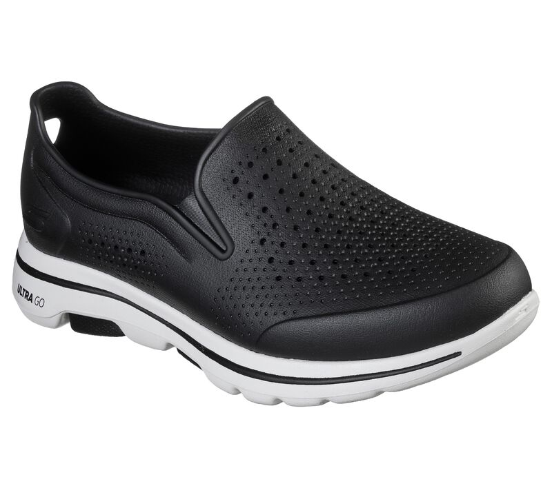 Cali Gear: Skechers GOwalk 5 - Easy Going, BLACK/WHITE, largeimage number 0