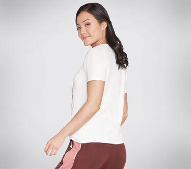 Skechers Apparel Wild Rose Tee Shirt, WHITE, large image number 2