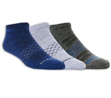 3 Pack Low Cut Diamond Arch Socks, BLUE, large image number 0