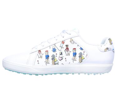 Skechers GO GOLF Drive 4 - Dogs At Play, WHITE/BLUE, large image number 4