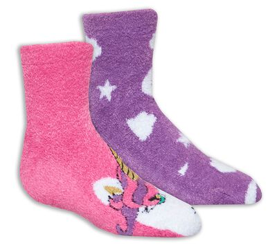 2 Pack Unicorn Cozy Crew Socks