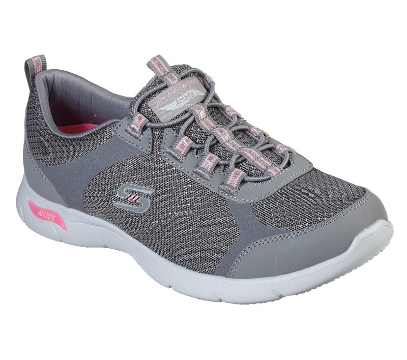 Skechers Arch Fit Refine - Her Best, GRAY / PINK, largeimage number 0