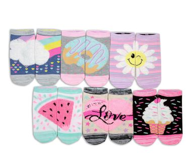 6 Pack Low Cut Love Socks, ASSORTED, large image number 0