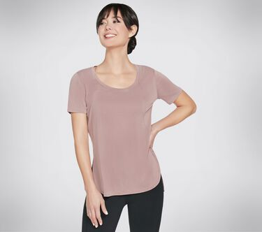 Skechers Apparel Tranquil Tee Shirt, RUST, large image number 0