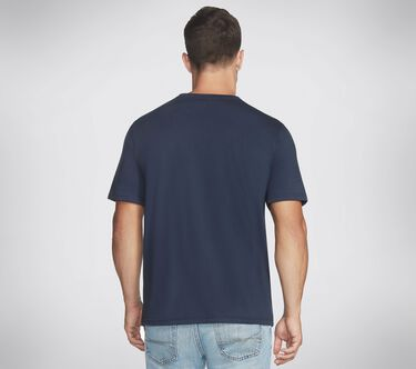 Skechers Apparel Split S Halftone Crew Tee Shirt, NAVY, large image number 1