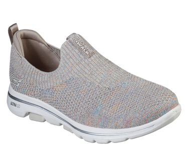 Skechers GOwalk 5 - Sparkly, TAUPE/MULTI, large image number 1