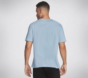 Skechers Apparel Geo Ombre Crew Tee Shirt, LIGHT BLUE, large image number 1
