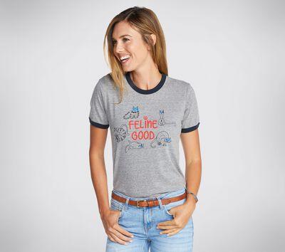 BOBS Apparel Feline Good Ringer Tee Shirt