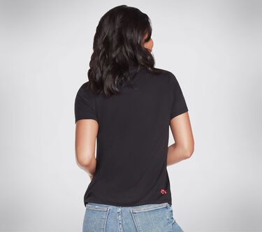 BOBS Apparel - Glitter Heart Crew Tee Shirt, BLACK, large image number 1