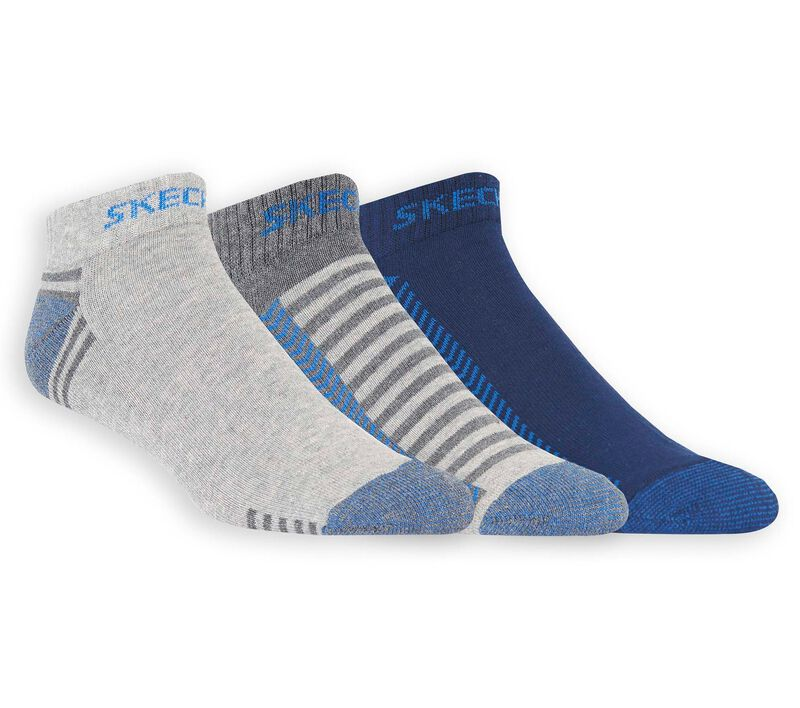 3 Pack Low Cut Terry Trainer Work Socks, GREEN/BLUE, largeimage number 0