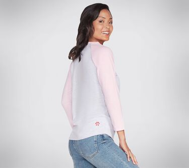 BOBS Apparel - Purrrfect Baseball Tee Shirt, LIGHT GRAY, large image number 1