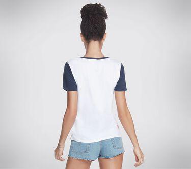 BOBS Apparel Run Walk V Neck Tee Shirt, WHITE, large image number 1