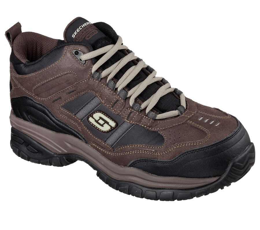 Work Relaxed Fit: Soft Stride - Canopy Comp Toe, BROWN / BLACK, largeimage number 0