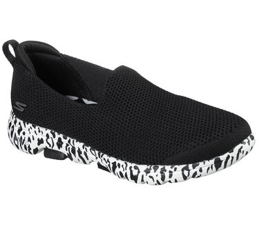 Skechers GOwalk 5 - Edgy, BLACK/WHITE, large image number 0