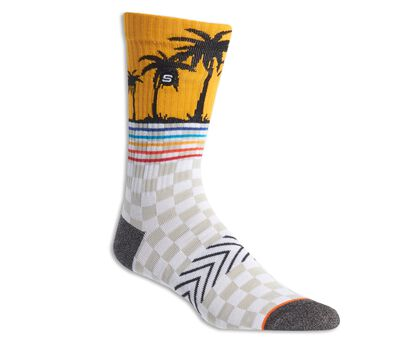 1 Pack Non Terry Palms Crew Sock